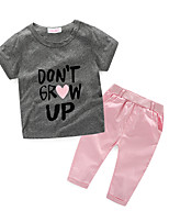 Girls' Others Sets,Cotton Fall Short Sleeve Clothing Set