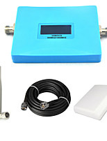 Intelligent GSM 900mhz DCS 1800mhz Cell Phone Signal Booster 2G 4G Signal Repeater Amplifier with Panel Antenna / Omni Antenna / 15m Cable / Blue
