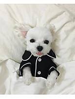 Cane Pigiami Abbigliamento per cani Casual Formale Bianco Nero Rosa Azzurro chiaro