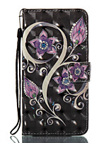 For Case Cover Card Holder Wallet with Stand Flip Pattern Full Body Case Flower Hard PU Leather for Samsung Galaxy J7 (2016) J7 (2017) J5