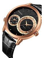 Herrn Sportuhr Kleideruhr Armbanduhr Chinesisch Quartz Kalender Chronograph Wasserdicht Leder Echtes Leder Band Bequem Luxuriös Elegante