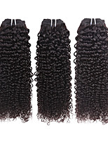 Human Hair Brazilian Natural Color Hair Weaves Curly Hair Extensions Three-piece Suit Black