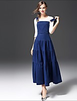 FRMZ Women's Casual/Daily Work Simple Spring Fall T-shirt Skirt Suits,Solid Round Neck ¾ Sleeve Micro-elastic
