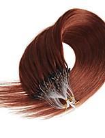 Micro boucle anneau 100% réel remy extensions de cheveux humains 100s / pack micro boucle cheveux extensions grammy 16-24 pouces