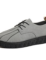 Men's Shoes Suede Spring Fall Comfort Sneakers Lace-up For Casual Red Yellow Gray Black