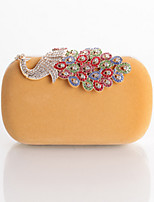 Women Bags All Seasons Polyester Evening Bag Crystal Detailing Flower(s) for Wedding Event/Party Blue Black Red Yellow Fuchsia