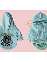 Dog Hoodie Dog Clothes Casual/Daily Geometic Blue Green
