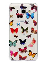 For Case Cover IMD Transparent Pattern Back Cover Case Butterfly Soft TPU for Samsung Galaxy J7 (2016) J7 (2017) J5 (2016) J5 (2017) J3