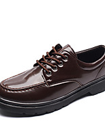 Men's Shoes PU Spring Fall Comfort Oxfords Lace-up For Casual Party & Evening Brown Black