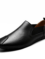 Men's Shoes Nappa Leather Spring Fall Comfort Loafers & Slip-Ons Split Joint For Casual Party & Evening Brown Black White