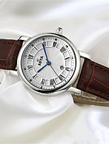 Women's Fashion Watch Quartz Calendar Leather Band White Red Brown