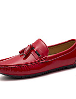 Men's Shoes Real Leather Fall Winter Driving Shoes Loafers & Slip-Ons Tassel(s) For Casual Party & Evening Blue Red Black White