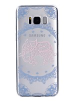 Case For Samsung Galaxy S8 Plus S8 Transparent Pattern Back Cover Lace Printing Elephant Soft TPU for S8 S8 Plus S7 edge S7 S5