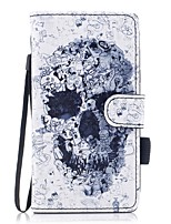til kuffert kortholder lommebok med stativ flip magnetisk mønster fuld krops case kranium hård pu læder til samsung galaxy j5 (2016) j5