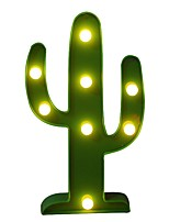 BRELONG 3D Warm White Kids Room Decoration Night Light Christmas Light Wedding Decorative Light - Cactus