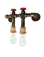 Water Pipe Wall Lights Hemp Rope Retro Industrial Style Creative Metal Restaurant Cafe Bar Wall Sconces