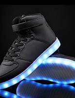 Da uomo Scarpe Finta pelle Autunno Inverno Scarpe luminose Comoda Sneakers Nastro a strappo LED Lacci Per Casual Bianco Nero Blu
