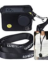andoer зажим на черной спортивной фотоаппарате protecive с вешалкой для переноски с шейным ремешком&колпачок объектива для andoer q3h