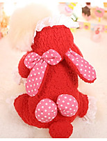 Dog Clothes/Jumpsuit Dog Clothes Casual/Daily Polka Dots Red Blushing Pink