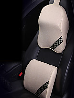 Automotive Headrest & Waist Cushion Kits For universal Car Headrests Linen