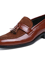 Men's Shoes Synthetic Fall Winter Formal Shoes Loafers & Slip-Ons Lace-up For Casual Party & Evening Brown Black