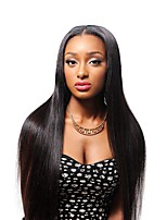 Women Human Hair Lace Wig Brazilian Human Hair 360 Frontal 130% Density With Baby Hair Straight 360° Frontal Wig Black Short Medium Long