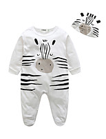 Baby Animal Print One-Pieces,100%Cotton Fall Long Sleeve