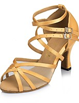 Da donna Balli latino-americani Similpelle Sandali Tacchi Sneaker Per interni Nastrini A stiletto Giallo Mandorla 7,5 - 9,5 cm