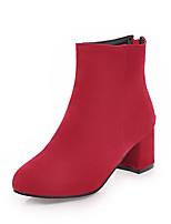 Da donna Scarpe Pelle nubuck Finta pelle Autunno Inverno Stivali Stivaletti alla caviglia Stivaletti Quadrato Punta tonda