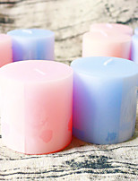 Beter Gifts® 4pcs/set Home Decorative Pillar Candle 5 x 5 x 5 cm/pcs Practical Wedding Favors
