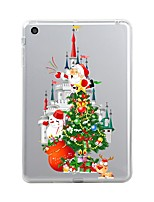 cheap -For iPad (2017) Case Cover Transparent Pattern Back Cover Case Transparent Christmas Soft TPU for Apple iPad (2017) iPad Pro 12.9'' iPad