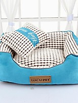 Dog Bed Pet Baskets Fuchsia Coffee Blue