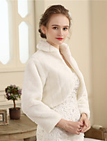 Faux Fur Wedding Party / Evening Women's Wrap With Fur Shrugs