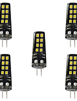 5 3W G4 LED Bi-pin Lights 16 leds SMD 2835 Decorative Warm White White 200lm 3000-3500  6000-6500K DC 12V