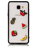 For Case Cover Transparent Back Cover Case Food 3D Cartoon Hard Acrylic for Samsung Galaxy A3(2017) A5(2017) A7(2017) A7(2016) A5(2016)