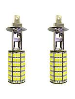 4W H1 120SMD2835 Near Light/Fog Lamp for Car White DC12V 2Pcs