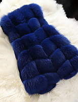 Faux Fur Wedding Party/ Evening Women's Wrap With Buttons Vests