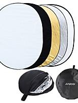 andoer 35 * 47/90 * 120 cm ovale 5 en 1 (or blanc argent noir translucide) multi portable portable collapsible photo photo lumière