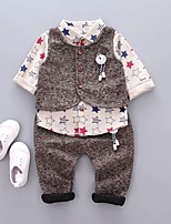 Boys' Others Solid Sets,Cotton Spring Fall Long Sleeve Clothing Set