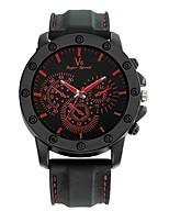 Herrn Sportuhr Armbanduhren für den Alltag Armbanduhr Chinesisch Quartz / Silikon Caucho Band Bequem Schwarz