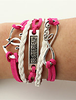 Men's Women's Wrap Bracelet Leather Bracelet Jewelry Friendship Handmade Leather Alloy Heart Infinity Jewelry For Wedding Party Birthday