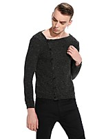 Men's Going out Casual/Daily Simple Sexy Street chic Sweatshirt Solid Round Neck Micro-elastic Cotton Long Sleeve Spring Fall