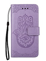 For Case Cover Card Holder Wallet with Stand Flip Magnetic Embossed Pattern Full Body Case Flower Hard PU Leather for Samsung Galaxy Note
