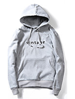 Men's Going out Casual/Daily Simple Hoodie Solid Hooded Micro-elastic Cotton Others Long Sleeve Spring Fall