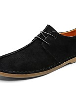 Men's Shoes PU Pigskin Spring Fall Comfort Oxfords Lace-up For Casual Khaki Gray Black
