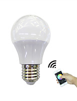 4.5W LED Smart Bulbs 3 High Power LED 350 lm RGB+Warm Bluetooth APP Control AC 100-240 V E27