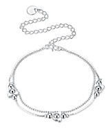 Women's Anklet/Bracelet Silver Plated Basic Bear Jewelry For Party Casual