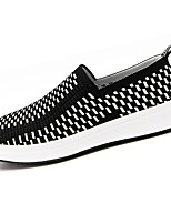 Men's Shoes Fabric Spring Fall Comfort Loafers & Slip-Ons For Casual Black/White Black