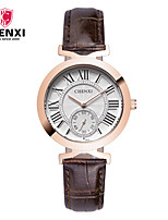 Women's Dress Watch Fashion Watch Japanese Quartz Leather Band Charm Luxury Cool Casual Brown