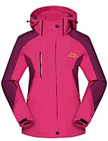 Women's 3-in-1 Jackets Windproof Rain-Proof Wearable Breathability Full Length Visible Zipper 3-in-1 Jacket Winter Jacket Top for Camping